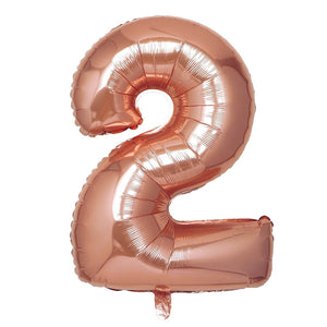 16in Rose Gold Number Balloon (2)