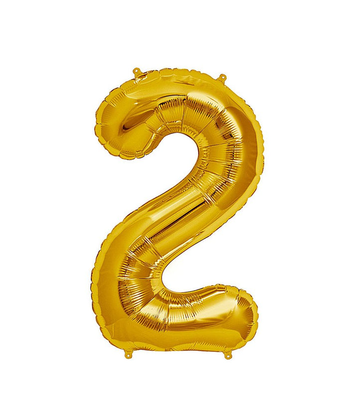 16in Gold Number Balloon (2)