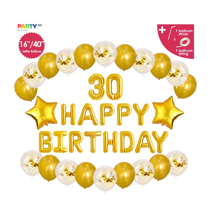 30th Birthday Party Balloons/Banner/Sign
