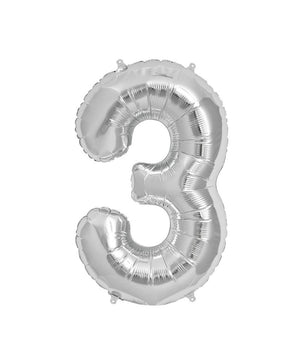 16in Silver Number Balloon (3)