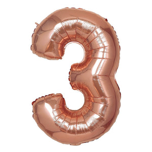 16in Rose Gold Number Balloon (3)