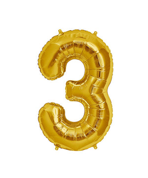 16in Gold Number Balloon (3)