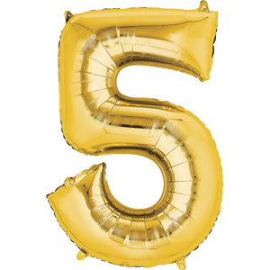 42in Gold Number Balloon (5)