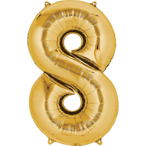 42in Gold Number Balloon (8)