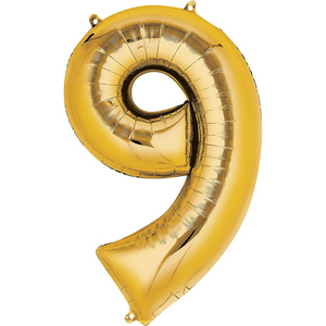 42in Gold Number Balloon (9)