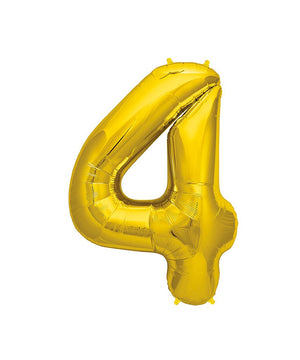 42in Gold Number Balloon (4)