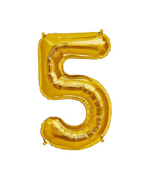 16in Gold Number Balloon (5)