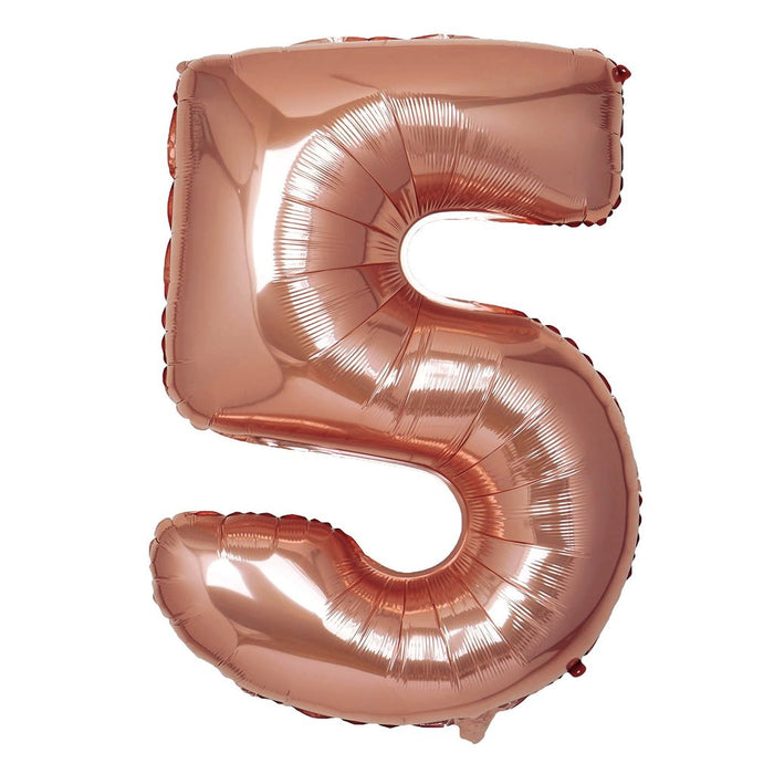 16in Rose Gold Number Balloon (5)