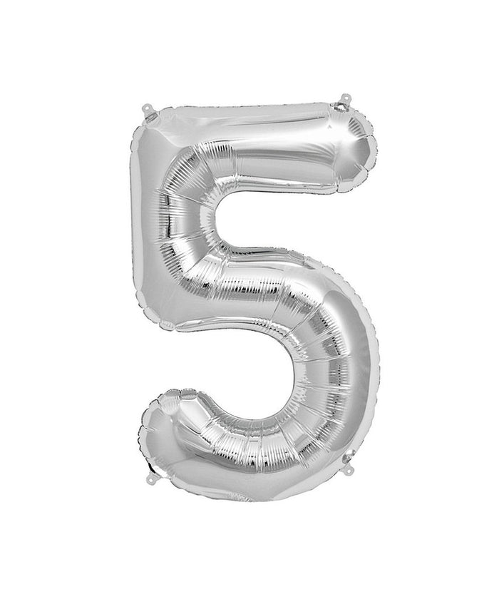 16in Silver Number Balloon (5)