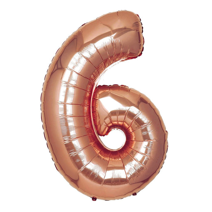 16in Rose Gold Number Balloon (6)