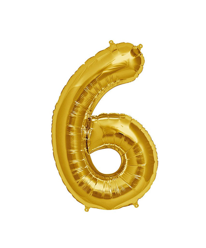 16in Gold Number Balloon (6)