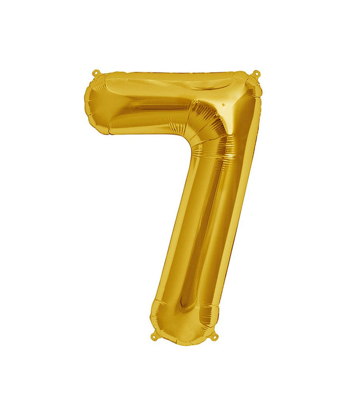 16in Gold Number Balloon (7)