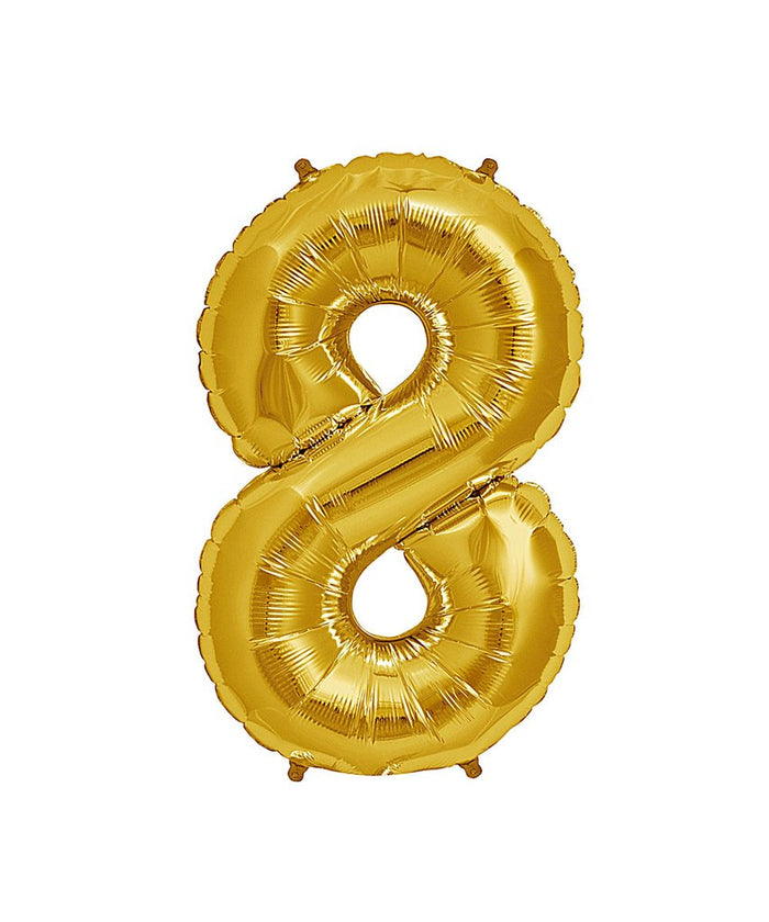 16in Gold Number Balloon (8)