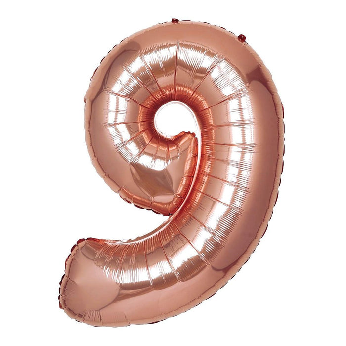 16in Rose Gold Number Balloon (9)