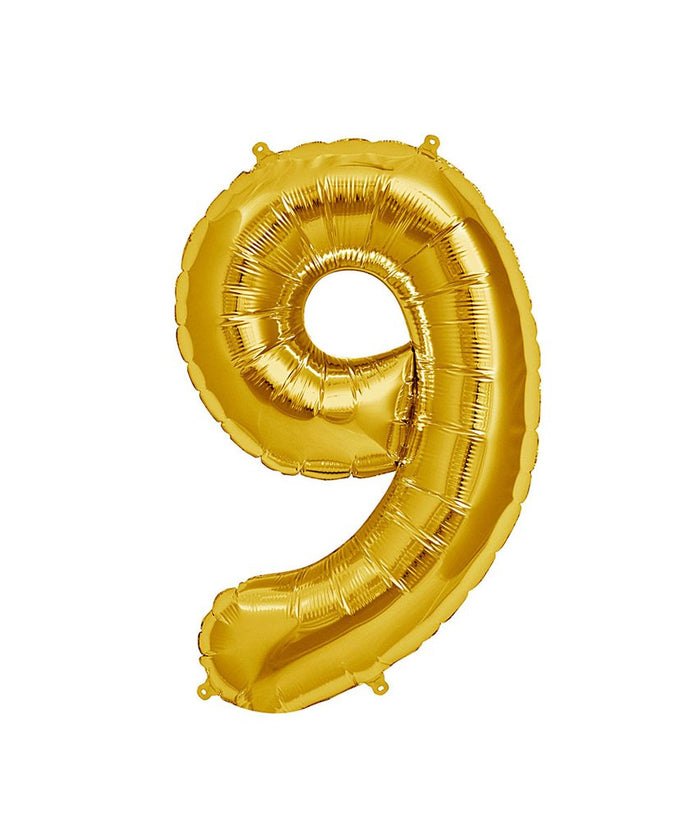 16in Gold Number Balloon (9)