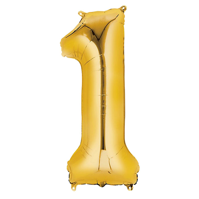 42in Gold Number Balloon (1)