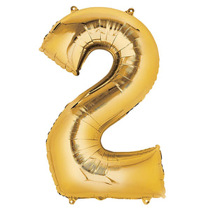 42in Gold Number Balloon (2)