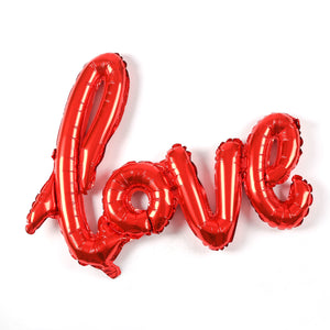 "A giant red letter balloon of ""LOVE"". perfect for engagement, bridal shower, wedding and birthday theme. romantic party decoration"
