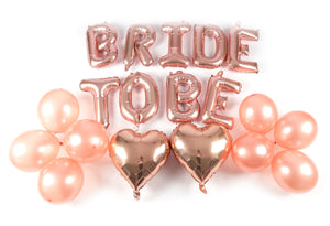 """BRIDE TO BE"" balloons 