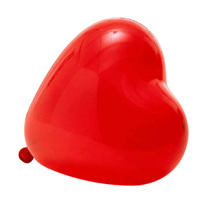 A red heart shaped latex balloon, perfect decoration ideas for engagement, wedding, birthday party.