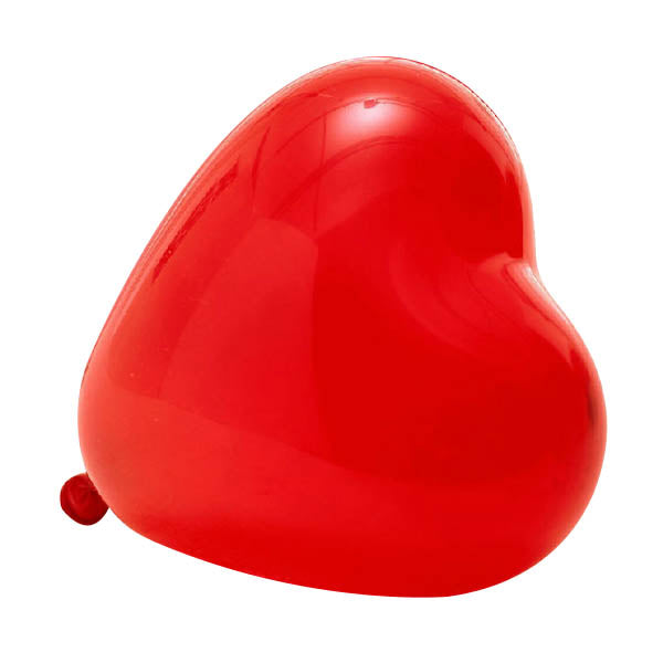 12'' HEART BALLOONS  (PACK OF 10) 3 COLORS