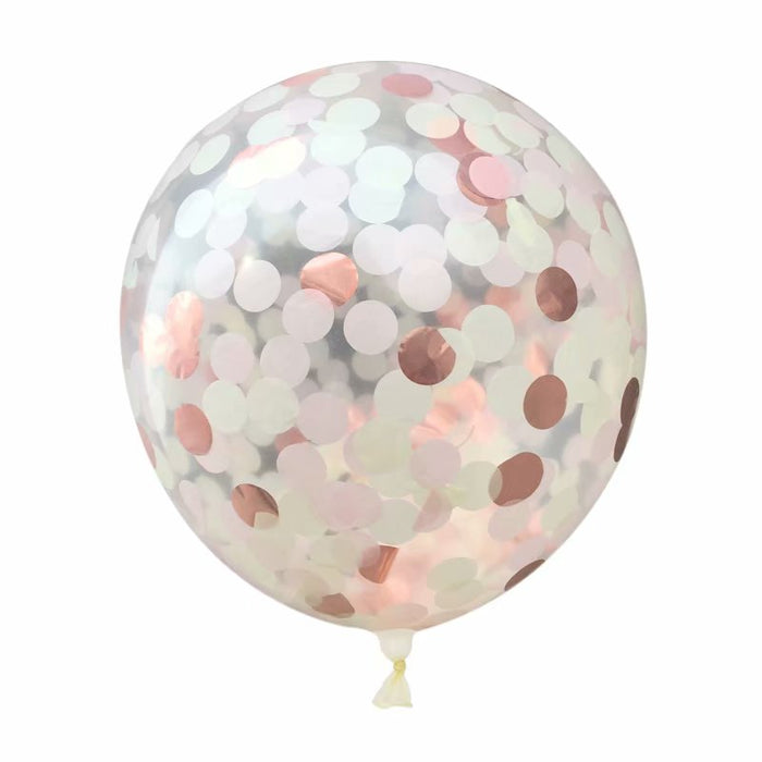 12'' CONFETTI BALLOON 5 COLORS (PACK OF 5)