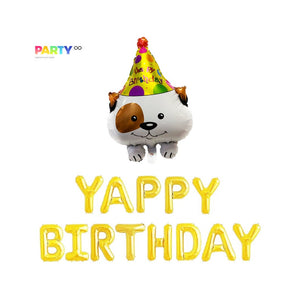 Yappy Birthday Balloon Banner