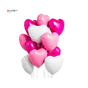 Valentine's Day Decor | Pink Heart Balloon Bouquet | Home/Room Decoration | Engagement/Wedding/Proposal Party