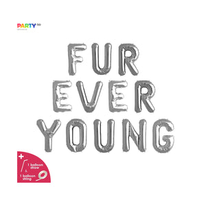 Fur Ever Young Balloon Banner