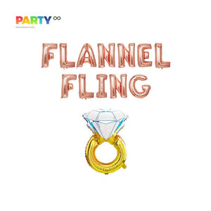 """Flannel Fling"" Balloons Banner 