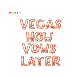 """Vegas Now Vows Later"" Balloon Banner 