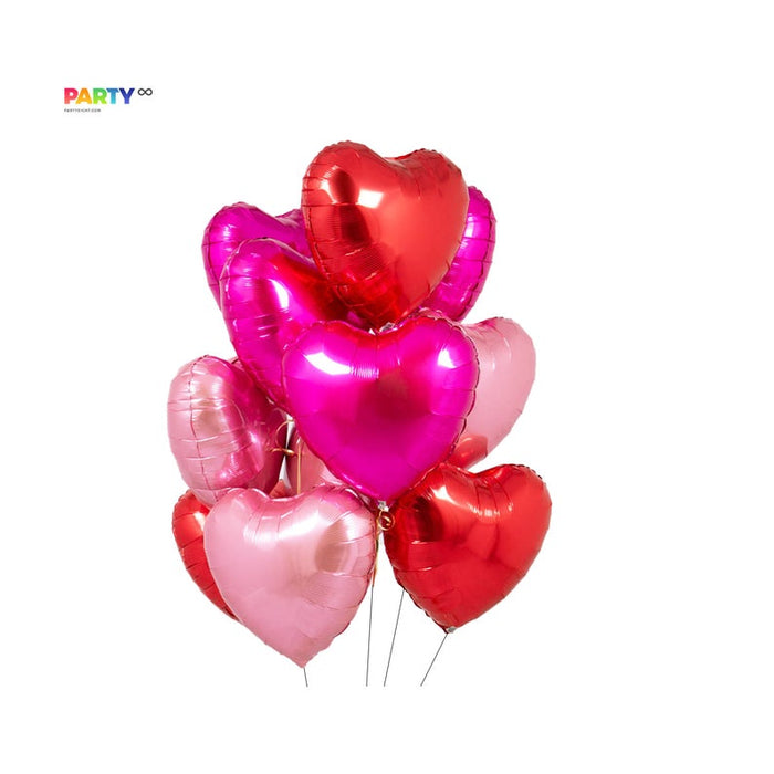 Valentine's Day Decor | Red Heart Balloon Bouquet | V-Day House Decorations