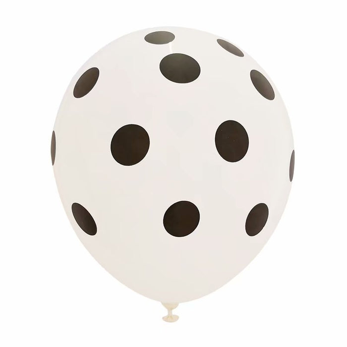 "12"" White Polka Dot Balloon (Pack of 10)"