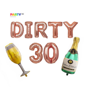 Dirty 30 Balloons Banner