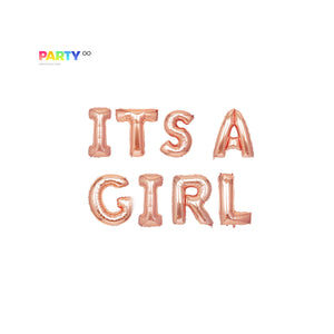 ITS A GIRL Gender Reveal Balloon Banner | Gold/Silver/Rose Gold | Gender Reveal Party Decor