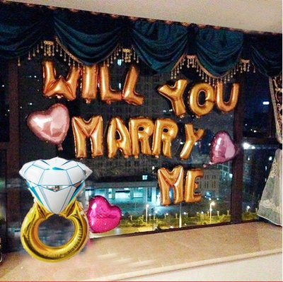 Wedding Proposal Decorations Set