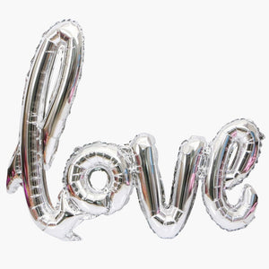 LOVE 40 inch Giant Love Script Balloon 4 Colors | Engagement Party Decoration Balloon | Engagement Decoration Balloons