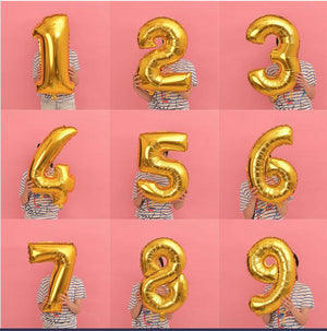 Giant 42 inch Gold Balloon Numbers Birthday | Giant Gold Numbers Balloon | Jumbo Balloon Numbers 21st 22nd 25th 26th 30th Balloon Numbers