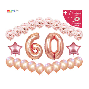 60th Birthday Balloon Decoration Set
