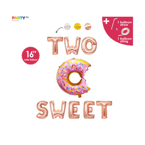 """Two Sweet"" Balloons Banner 