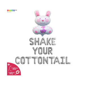 """Shake Your Cotton Tail"" Balloon Banner 