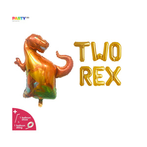 """Two Rex"" Balloon Banner 