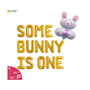 """Some Bunny Is One"" Balloon Banner 