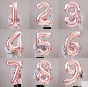 Giant 42 inch Rose Gold Balloon Numbers Birthday Giant Rose Gold Balloon Jumbo Balloon Numbers 21st 22nd 25th 26th 30th Balloon Numbers