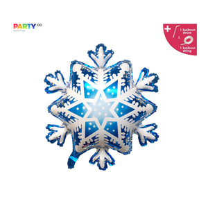 Satin Snowflake Balloon | Frozen Winter Birthday Party Christmas Party | Winter Birthday Party Balloons |