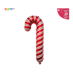 Candy Cane Balloon | Large | Christmas Party Decorations | Christmas Photo Prop | Office Christmas Party