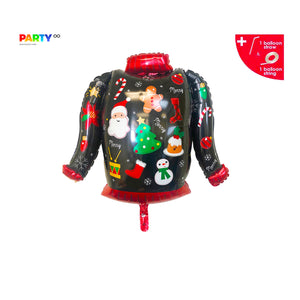 Christmas Ugly Sweater Party Decorations | Ugly Sweater Balloon | Ugly Christmas Sweater Party Ugly Sweater Balloon