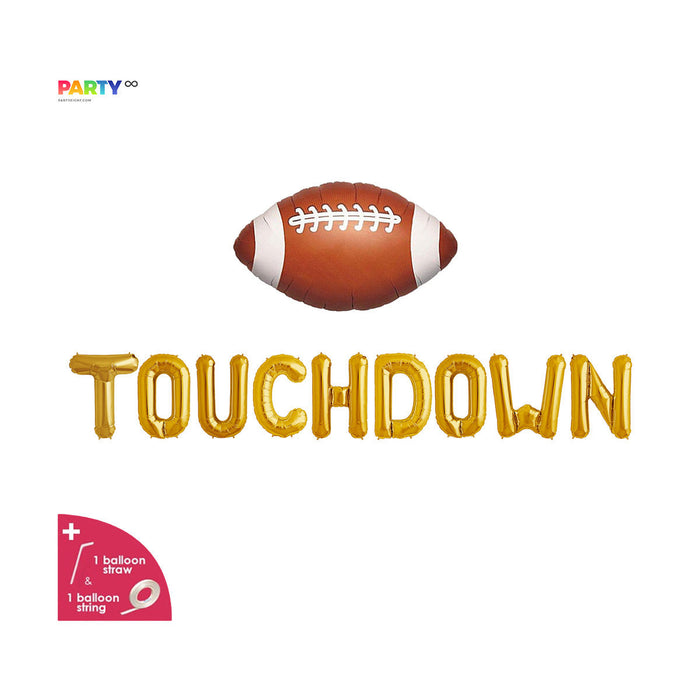 Touchdown Balloon Banner | Superbowl Party Decorations | Football Party Decoration Balloons