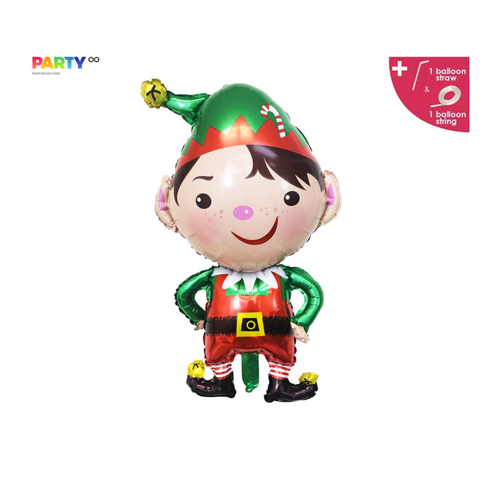 Christmas  ELF Balloons | Christmas Party Decorations | Merry Friendsmas Balloons Banner | Christmas Party Decorations