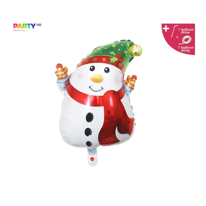 Christmas Snowman Balloon  | Christmas Party Decorations | Merry Friendsmas Balloons Banner | Christmas Party Decorations
